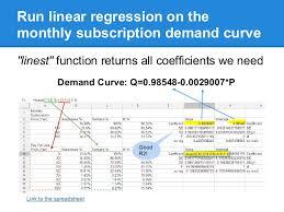 Simple Price Modeling In Google Spreadsheet
