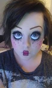 scary doll make up