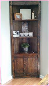Home Furniture Corner Bookshelf With Light Corner Bookshelf Walnut ...