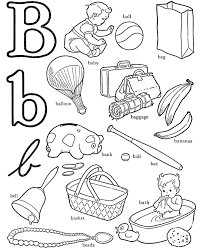 Small Picture Letter B Coloring Pages For Preschoolers Coloring Home