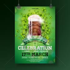 Green Party Flyer Saint Patricks Day Party Flyer Illustration With Fresh Dark