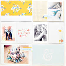 Project Life Page Designs Project Life Page With Reverie Collection By Justyna Kolanek