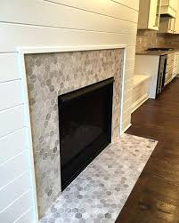 tile fireplace transitional