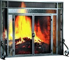 flat fireplace screen screens extra large 2 panel steel custom