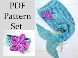 Mermaid Tail Blanket Knitting Pattern Enchanting Mermaid Tail KNITTING PATTERN For Children Knitting Pattern Mermaid