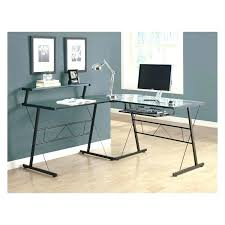 glass top computer table glass computer desk monarch black metal l shaped computer desk with tempered
