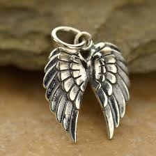 details about steampunk angel pendant necklace 925 sterling silver charm double wing goth 1128