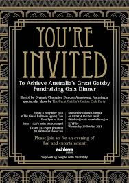 Great Gatsby Invitation Template Great Gatsby Invitation Template Shatterlion Info