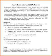 Statement Of Work Template Consulting Master Service Agreement ...