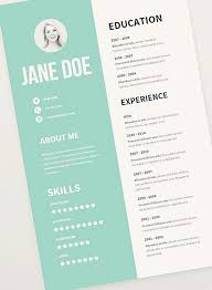 Free Creative Resume Template New Resume Templates For Designers