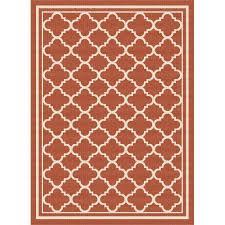 indoor outdoor rugs 8 10 8 x 10 large terra cotta orange moroccan tile rug