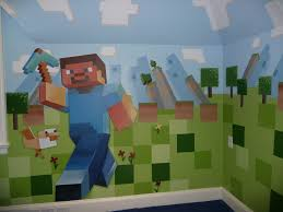 Minecraft Bedroom Wallpaper Minecraft Mural Stickers Related Keywords Suggestions