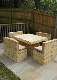 wooden pallet garden furniture. Recycled Pallet Garden Sitting Furniture Wooden