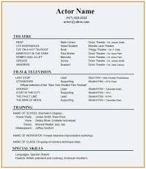 beginners resume template beginner actor resume template elegant sample actors resume