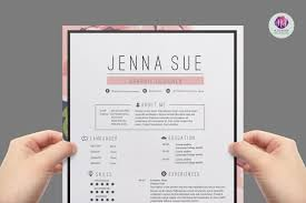 Trendy Resume Templates Floral Resume Package Resume Templates Creative Market Pro 4
