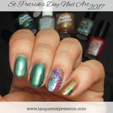 Step-by-Step Nail Art Thursday - Green, Gold, and Rainbow Nails ...