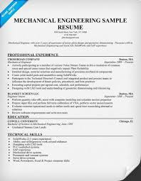 Sample Resumes For Mechanical Designs Resume Format Experienced