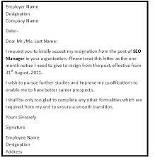 Formal Resignation Letter Format Fresh 7 Resignation Letter Format ...