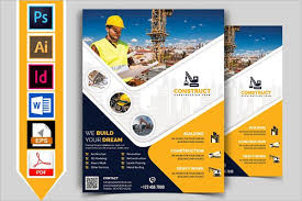 Word Template Flyers 32 Construction Flyer Templates Free Word Psd Designs
