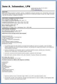 Objective For Lpn Resumes Lpn Resume Objectives Kadil Carpentersdaughter Co