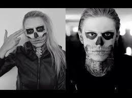 tate langdon evan peters skull makeup tutorial american horror story series you