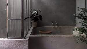 tranquil bathrooms with dark and