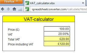 Vat Calculation Formula In Excel Download Create A Simple Vat Calculator Spreadhseet Converter