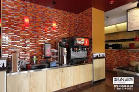 Restaurant Kitchen Tiles Glass Tile Designs In Restaurants Stores And Food Courts