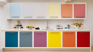 Colour For Kitchens Multi Coloured Linear Kitchen From Harvey Jones