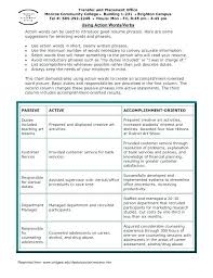 Resume Action Word List List Of Action Verbs Resumes Resume Sample