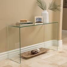 Ramona Glass Console Table by Christopher Knight Home - Free Shipping Today  - Overstock.com - 18193709
