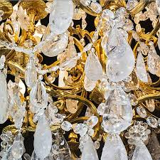rock crystal and gilt bronze chandelier french ormolu bronze chandelier in the style of louis xvi modern rock crystal quartz stone specially carved for
