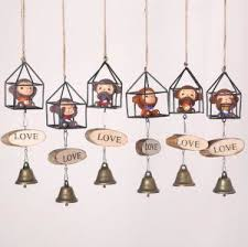 z cartoon creative wind chime bell hanging ornament for outdoor car home gifts crafts decoration
