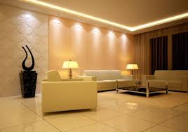 lighting in room. Simple Living Room Lighting And Decor In
