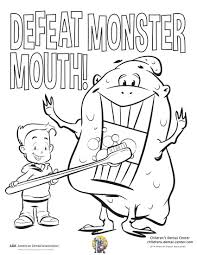 Small Picture Coloring Page Dental Health Month Coloring Pages Coloring Page