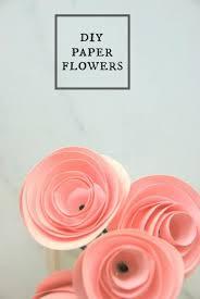 Cardstock Paper Flower The Easiest Diy Paper Flower Tutorial Craft Projects Diy