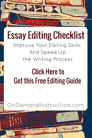 online essay correction ideas about editing checklist math