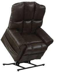catnapper stallworth 4898 leather power pow r lift full lay out chaise recliner chair with comfor gel 450 weight capacity iva com