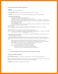 Outline Format For Research Paper Example Mla Apample Pictures Hd