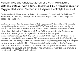 iwasawa laboratory department of engineering science the   pt sn c catalyst abstract