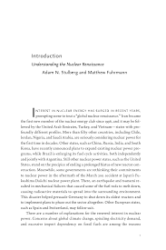 the nuclear renaissance and international security edited by the nuclear renaissance and international security edited by adam n stulberg and matthew fuhrmann