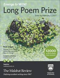 the malahat review poetry fiction and creative nonfiction enter the long poem prize by 1