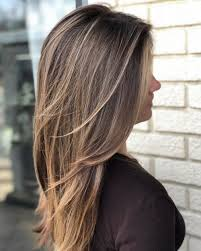 Long layered brunette hair
