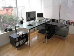office table decoration ideas. Plain Decoration Astounding Contemporary Office Decor Ideas With Simple Furnishing Decorating  Entrancing Nice Chrome Computer Table And Chair In Open Sunroom Designs For Decoration