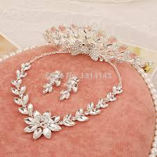 high grade crystal necklace earrings hair accessories jewelry sets Wedding Jewellery History price tracker and history of high grade crystal necklace earrings hair accessories jewelry sets phoenix three piece crown necklaces wedding jewellery Beautiful Jewellery