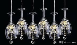 wine glass chandelier crystal stair led wineglass chandelier modern creative fashion spiral suspension lighting restaurant villa