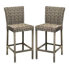 cape cod outdoor wicker bar stools in vintage stone set of 2 counter height 204b