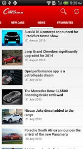 new car releases south africa 2013Sponsored Post Carscoza Releases Powerful Car App for Android