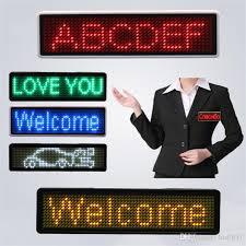 Led Name Badge Name Tag Digital Display Led Sign Digital Badge Sign Scrolling Programmable Greenled Name Tag Led Scrolling Flexible Led Display Led