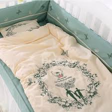 exquisite family and erfly print cotton 9 piece crib bedding sets